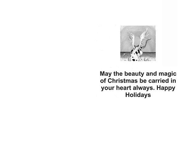"""ANGEL"" Greeting Card by Rolandas Kiaulevicius Dabrukas, Inside View"