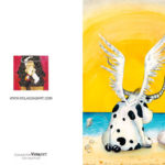 "Greeting card ""ANGEL"" - Front And Back View"