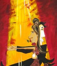 "Acrylic Painting ""TANGO IN TUSCANY"""