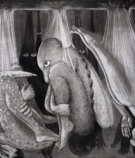 "Charcoal Drawing ""BIRTH I"""