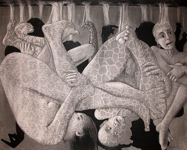 "Charcoal Drawing ""BIRTH II"""