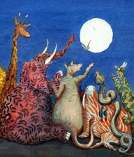 Under the moon each gathered round to announce his new-found name