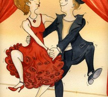 "Watercolor Illustration ""LINDY HOP"""