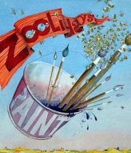 "Illustration from the children's book ""Zoolidays"" illustrated by Rolandas Kiaulevicius Dabrukas"