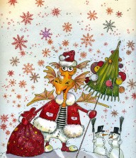 "Watercolor Illustration ""SANTA CLAUS"""
