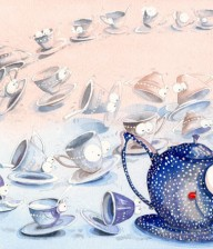 "Watercolor Illustration ""TEA TIME"""