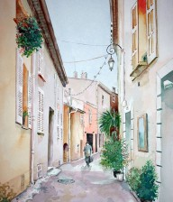 """VILNIUS STREET"" Watercolor Illustration"