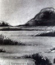 "Charcoal Drawing ""EVENING"""