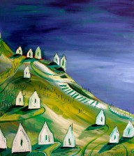 "Acrylic Painting ""TUSCANY HILLS"""
