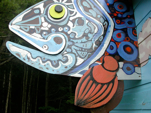 "Mural ""Fairy Tale House"" Detail - Fish Head"