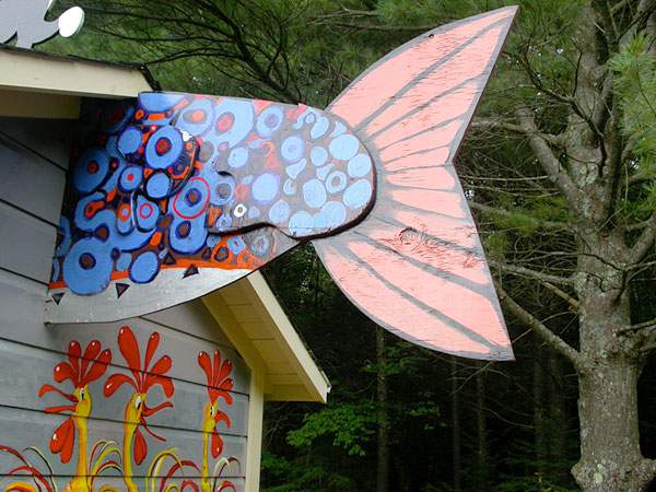 "Mural ""Fairy Tale House"" Detail - Fish Tail"
