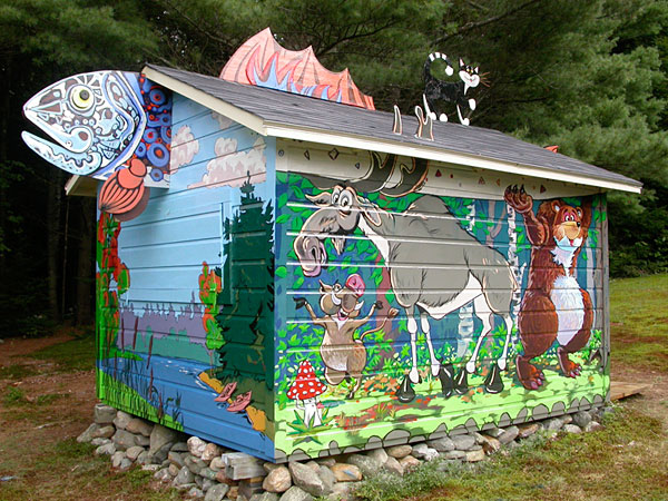 Whimsical fine arts for Fairy tale mural