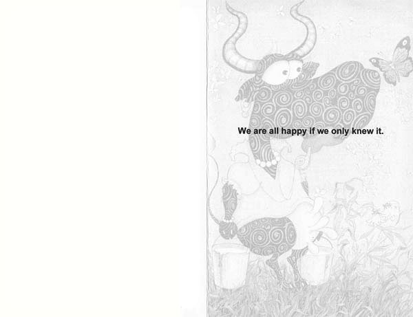 """Joy"" Greeting Card by Rolandas Kiaulevicius Dabrukas, Inside View"