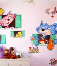 "Hand-painted Mural ""Tea Time"""