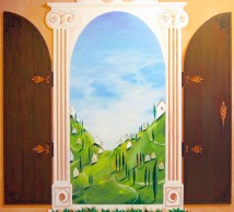 "Hand-painted mural ""Tuscany"""