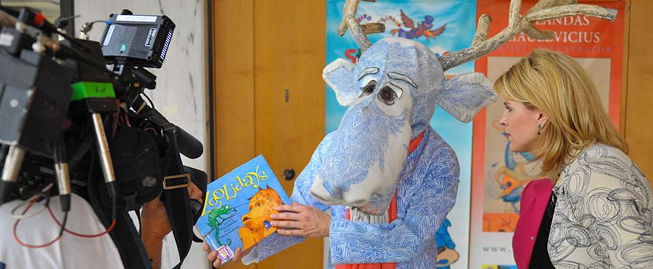 Blue Moose On Local News, Washington DC