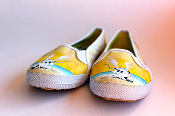 "Keds Custom ""Angle"" Shoes designed by Rolandas Kiaulevicius Dabrukas"