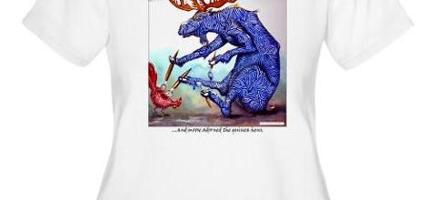 Funny Zoolidays Women's T-shirt Custom Design by Rolandas Kiaulevicius Dabrukas