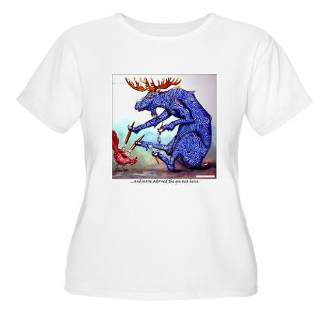 Funny Zoolidays Women's T-shirt, Custom Design by Rolandas Kiaulevicius Dabrukas