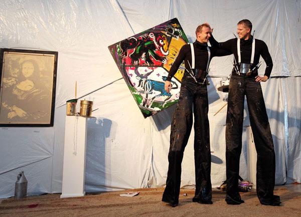 Giro Show Creators Gintaras Jocius and Rolandas Kiaulevicius Dabrukas