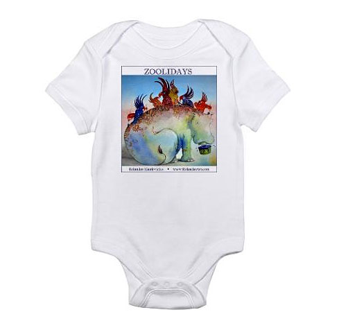 Zoolidays Infant Bodysuit, Custom Design by Rolandas Kiaulevicius Dabrukas