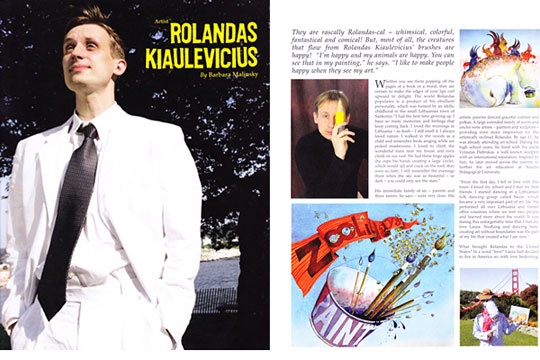 Rolandas Kiaulevicius Dabrukas in Ink Publications, Feb 2008