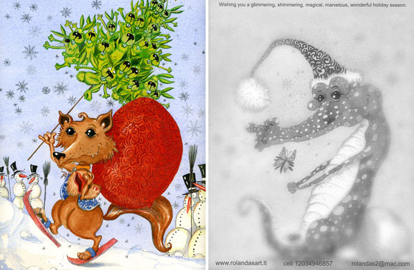 """""""Perfect Christmas"""" Postcard - Fornt and Back View"""