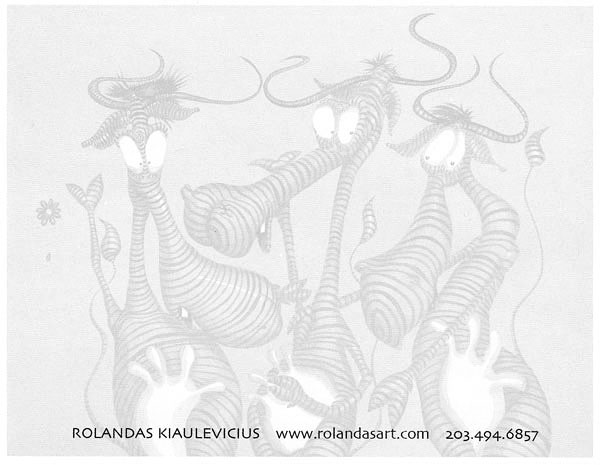 """MESSAGES"" Postcard by Rolandas Kiaulevicius Dabrukas, Back View"