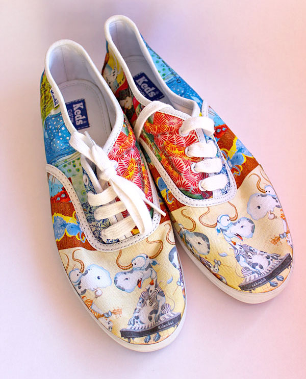 "Keds Original Champion Shoes ""Summer"" , custom Design by Rolandas Kiaulevicius Dabrukas"