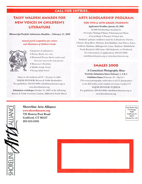 Rolandas Kiaulevicius Dabrukas in Shoreline Arts Alliance Publication, Fall 2007""