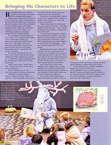 Rolandas Kiaulevicius Dabrukas in Universe Publication, Mar 2007