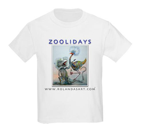 Kids Zoolidays T-shirt, Custom Design by Rolandas Kiaulevicius Dabrukas