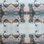lizard & bird fabric 1