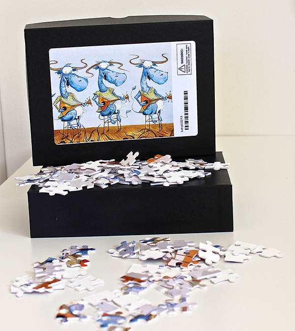 Puzzle Blue Cows Trio Main