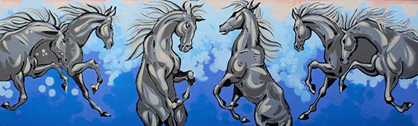 "Acrylic Painting ""Wild Dance"""